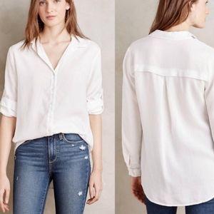 Cloth & Stone Asbury White Button Up Shirt Large